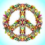 färgrik fred royaltyfri illustrationer