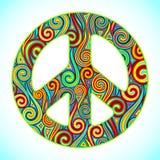 färgrik fred Arkivbild