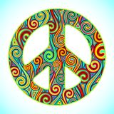 färgrik fred vektor illustrationer
