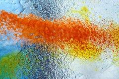Färgrik frostad glass texturbakgrund Royaltyfri Bild