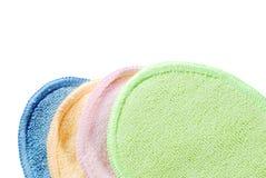 färgrik frotté för torkduk Arkivfoton