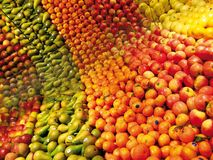 färgrik frukt Fotografering för Bildbyråer