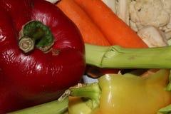 Färgrik frukt- och grönsaktextur royaltyfria foton