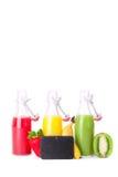 Färgrik fruktfruktsaft Fotografering för Bildbyråer