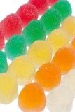 färgrik fruktgelé för godisar Fotografering för Bildbyråer