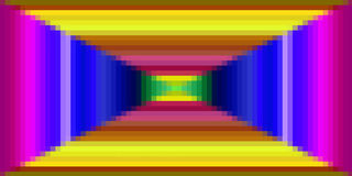 Färgrik fyrkantmodell för PIXEL Royaltyfri Bild