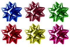färgrik gåva för bow Royaltyfria Bilder