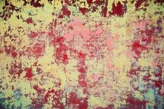 Färgrik gammal vägg Royaltyfria Bilder