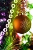 färgrik garnering för jul Royaltyfri Foto