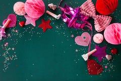 Färgrik garnering för karneval arkivfoton