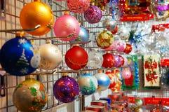 färgrik garneringrad för jul Royaltyfri Foto