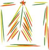färgrik garneringtree för jul Arkivbilder
