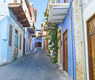 färgrik gata Arkivbild