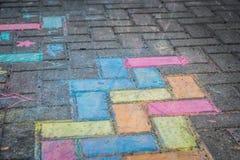 Färgrik gatakonst Fotografering för Bildbyråer