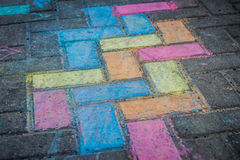 Färgrik gatakonst Arkivbild