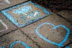 Färgrik gatakonst Arkivfoton