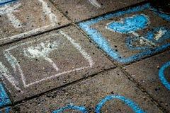 Färgrik gatakonst Royaltyfri Bild