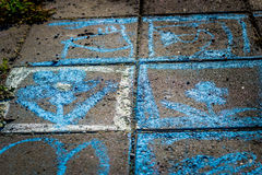 Färgrik gatakonst Arkivfoto