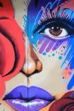 Färgrik gatakonst i NYC Arkivbilder