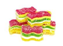 färgrik gelé för godisar arkivfoto