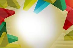 färgrik geometrisk överlappning för form 3d, abstrakt bakgrund Arkivfoto