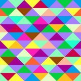 Färgrik geometrisk bakgrund med trianglar Royaltyfria Bilder