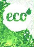 Färgrik geometrisk grön triangulär bakgrund ekologiskt symbol royaltyfri illustrationer