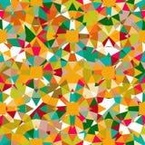 färgrik geometrisk modell Arkivbild