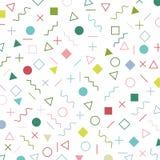 Färgrik geometrisk modell för beståndsdelmemphis stil era80-tal - 90-talårsbakgrund vektor illustrationer