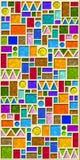 färgrik geometrisk modelltegelplatta royaltyfri illustrationer