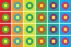 färgrik geometrisk mosaik royaltyfri illustrationer
