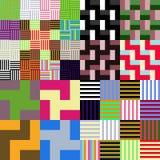 Färgrik geometrisk rutig tileable modell Arkivbild