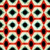 Färgrik geometrisk sömlös modell i retro stilgrungeeffekt vektor illustrationer