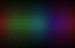Färgrik geometrisk sexhörningsbakgrund stock illustrationer