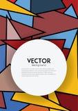 Färgrik geometrisk vektorbakgrund för bokomslag Fotografering för Bildbyråer