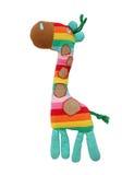 Färgrik giraffleksak fotografering för bildbyråer