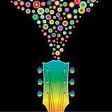 färgrik gitarr Royaltyfria Bilder