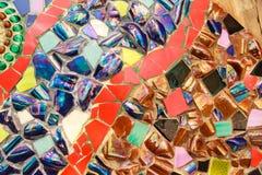 Färgrik glasad tegelplatta Royaltyfria Bilder