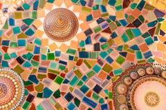 Färgrik glasad tegelplatta Fotografering för Bildbyråer
