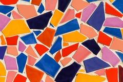 Färgrik glasad tegelplatta Arkivbild