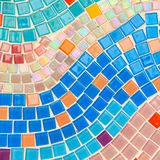 Färgrik glasad tegelplatta Arkivbilder