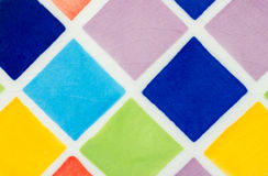 färgrik glasad tegelplatta Arkivfoton