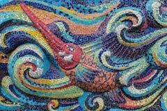 Färgrik glass fisk för mosaikkonstform Royaltyfria Bilder