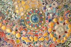 Färgrik glass mosaikkonst- och abstrakt begreppvägg Royaltyfri Fotografi