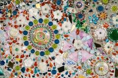 Färgrik glass mosaikkonst- och abstrakt begreppvägg Royaltyfria Foton