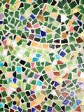 Färgrik glass mosaikkonst och abstrakt begreppväggbakgrund Arkivbild