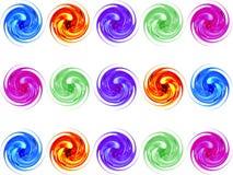 färgrik glass spiral Arkivfoton