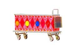 Färgrik glassvagn som isoleras på vit bakgrund Royaltyfria Foton