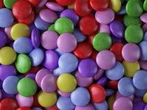 Färgrik godis för närbild Arkivfoton