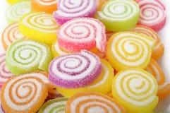 Färgrik godisfruktgelé Arkivfoto